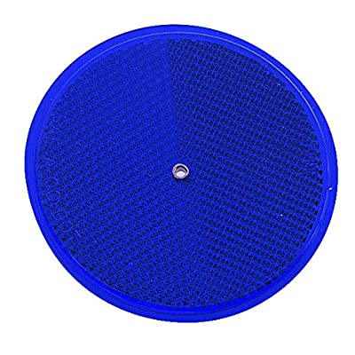 "HY-KO PROD Nail-On Reflector, 2 Pack, 3-1/4"", Blue (CDRF-5B): Office Products"