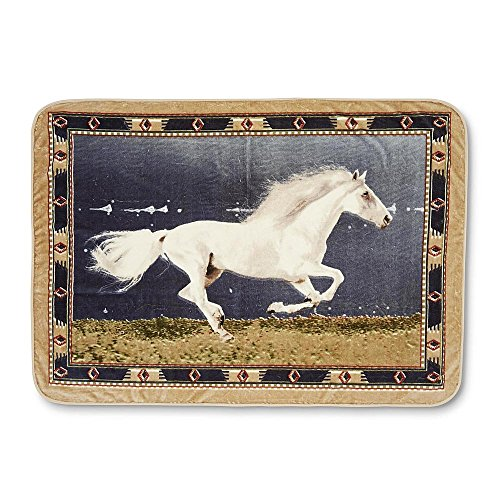 Galloping Horse Portrait High Pile Throw (High Pile Throw Blanket)
