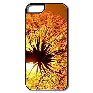 For Iphone 5/5S Case Cover, Dandelion Sun White/black For Iphone 5/5S Case Cover