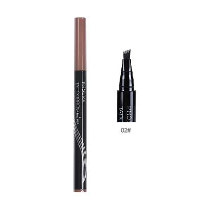 Tatouage 3 sourcils imperméable à l'eau de couleur avec la brosse automatique crayon sourcil mat Longue durée cosmétiques stylo sourcils