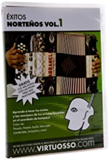 Virtuosso EAB1 Exitos Nortenos en el Accordion de Botones DVD and CD Vol.1