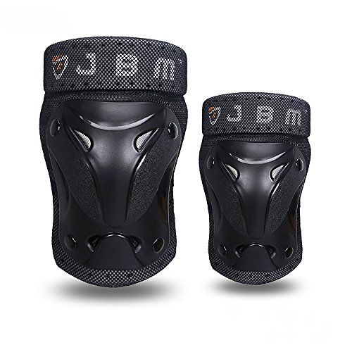 JBM Multiple Sports Protective Gear Knee and Elbow Pads for  Adult, Black