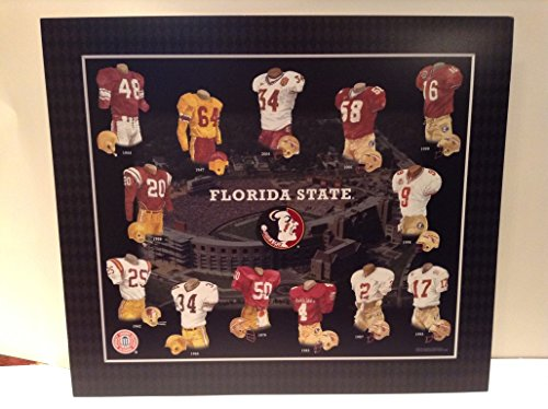 Framed Evolution History Florida State Seminoles Uniforms Print 01b82e125