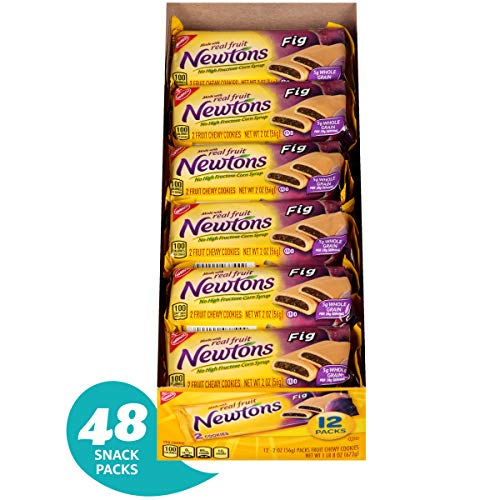 Newtons Fig Fruit Chewy Cookies - Snack Packs, 12 Count Box, 24 Ounce (Pack of 4)