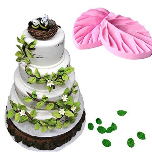 Leaf Texture Fondant Cake Mold Fondant Decoration Cake Chocolate Mold Bakeware Cake Tool