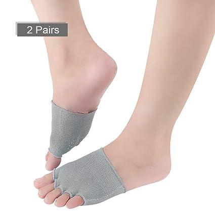 Calcetines de Yoga para Mujer 2 Pares, Calcetines de Cinco ...