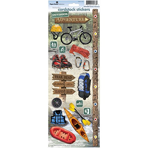 Paper House Productions STCX-0085E Cardstock Stickers, Outdoor Adventure