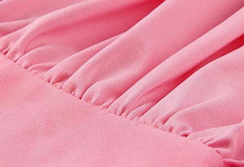 Donne Damigella Maxi Modo Coolending Più Rosa D'onore Involucro Del Vestito Convertibile xwXg6xU