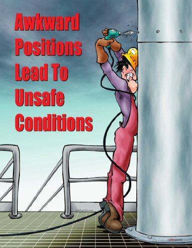Awkward Positions Lead To Unsafe Conditions Ergonomics Safety Poster