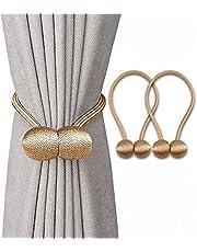 Magnetic Curtain Tiebacks Clips Decorative Rope Curtains Holdbacks Convenient Drapery Tie Backs Weave Holder for Window Draperies Hold Curtains Drape Ties Backs 16 inch Holdback
