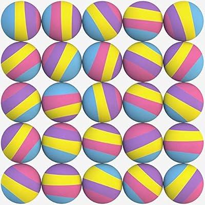 Entervending 50pcs Bouncy Balls Bulk 32mm 1.26