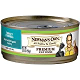 Newman's Own Premium, Turkey Formula for Cats, 5.5-Ounce Cans (Pack of 24)