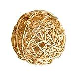 DinQ 10 Pieces Wicker Balls, DIY Bowl Filler Ornament, Decorative Spheres Balls for Kindergarten, Christmas Tree, House Ornaments, 2.36 Inch