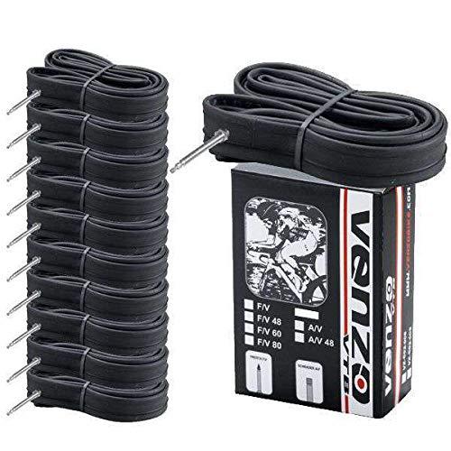 Venzo 10x Road Bike Tire Inner Tubes 700x23/25C F/V60