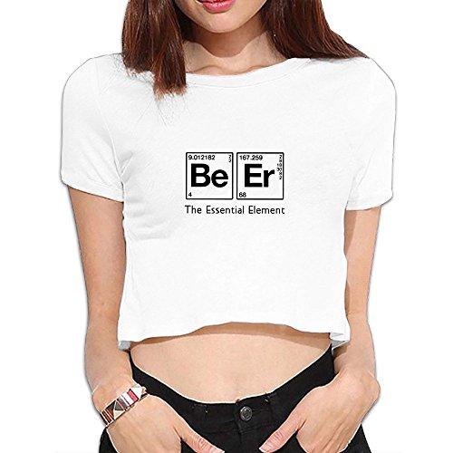 Las mujeres de la cerveza el elemento esencial la Ciencia Química Crop parte superior Camisas.