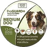 Dog Flea Treatment Collar - Flea Tick Collar - MEDIUM DOG - ProGuard Plus II (safe pet protection from pest bites infestations larvae lice mosquitoes)
