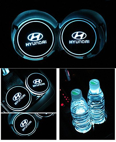 Honda Bearfire Car Logo LED Cup Pad cup holder light USB Charging Mat Luminescent Cup Pad LED Mat Interior Atmosphere Lamp Decoration Light