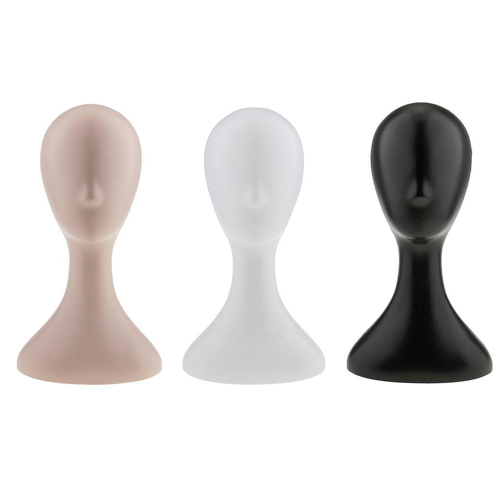 Weibliche Schaufensterpuppe Kopf Per/ückenkopf Dekokopf Kopfmodell ohne Ausdruck Schwarz
