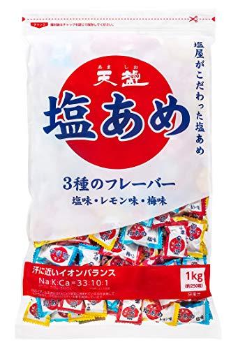염분사탕 3가지 맛 (짠맛・레몬 맛・매실맛) 1000g
