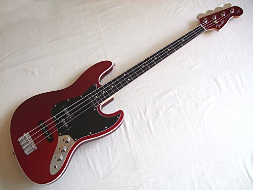 Fender Japan Aerodyne Jazz Bass AJB OCR Old Candy Red Electric Bass (Japan Import)