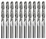 Ball Nose End Mills,Yeeco 1/8'' 2 Flutes Ball Nose Carbide Engraving Cutter CNC Router Bits Spiral Set Tool Pack of 10, 3.175mm 22mm