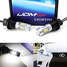 iJDMTOY (2) No Additional Resistor Required Xenon White 21-SMD 7440 T20 LED Bulbs For Car Front or Rear Turn Signal Lights (No Hyper Flash)