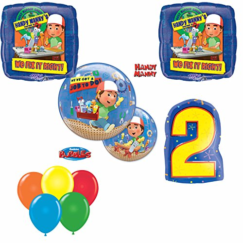 Handy Manny 2nd Birthday Party Balloon Set (Handy Manny Birthday Supplies compare prices)