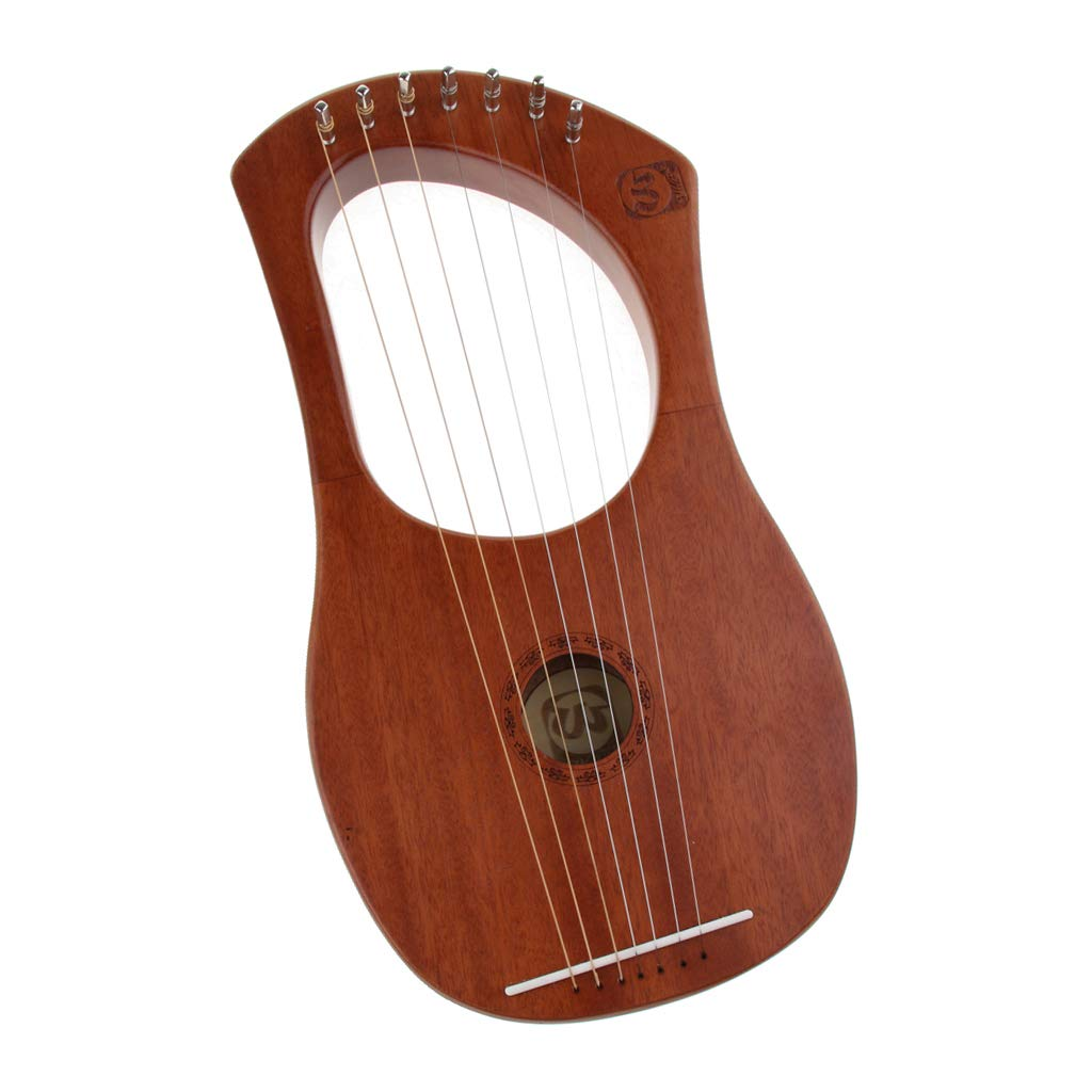 Baosity Mahogany 7 Strings Harp with Tuning Wrench&Bag for Learner Practice by Baosity (Image #5)