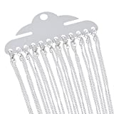 Godagoda Silver Color Close Loop Curb Link Chain Necklace Pack of 12pcs