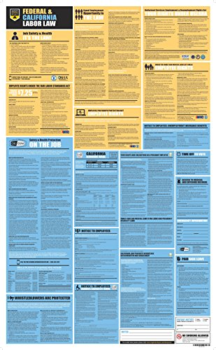 (California State and Federal Labor Law All-in-One Poster, 27 x 44 inches, UV Coated Paper (English))