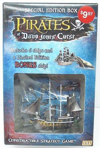 Pirates of Davy Jones Curse Constructible Strategy Game Special Edition Box with Black Diamond Bonus Ship
