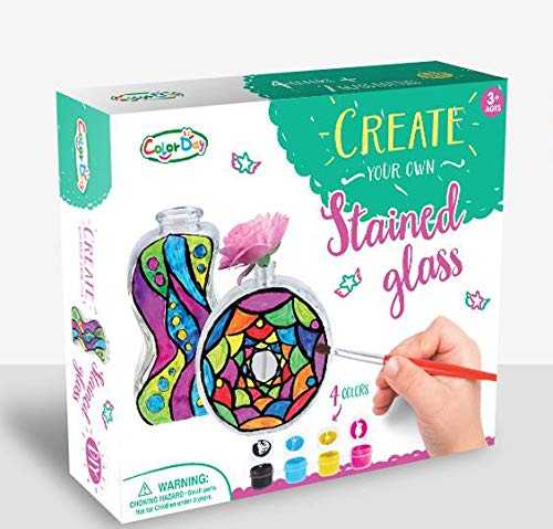 Colorday Create Your Own Stained Glass Bottles ()