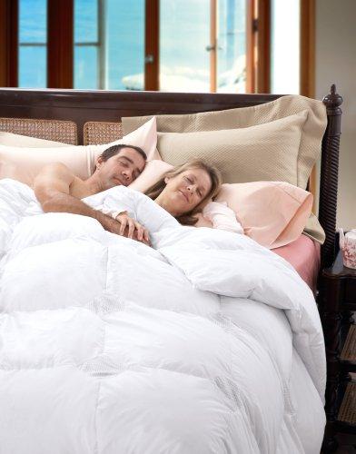 Cuddledown Temperature Regulating 700 Fill Power Down Comforter, Twin, Level 1, White