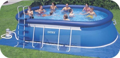 intex 24 39 x 12 39 x 48 oval frame ellipse pool ground cloth tarp buy online in uae products. Black Bedroom Furniture Sets. Home Design Ideas