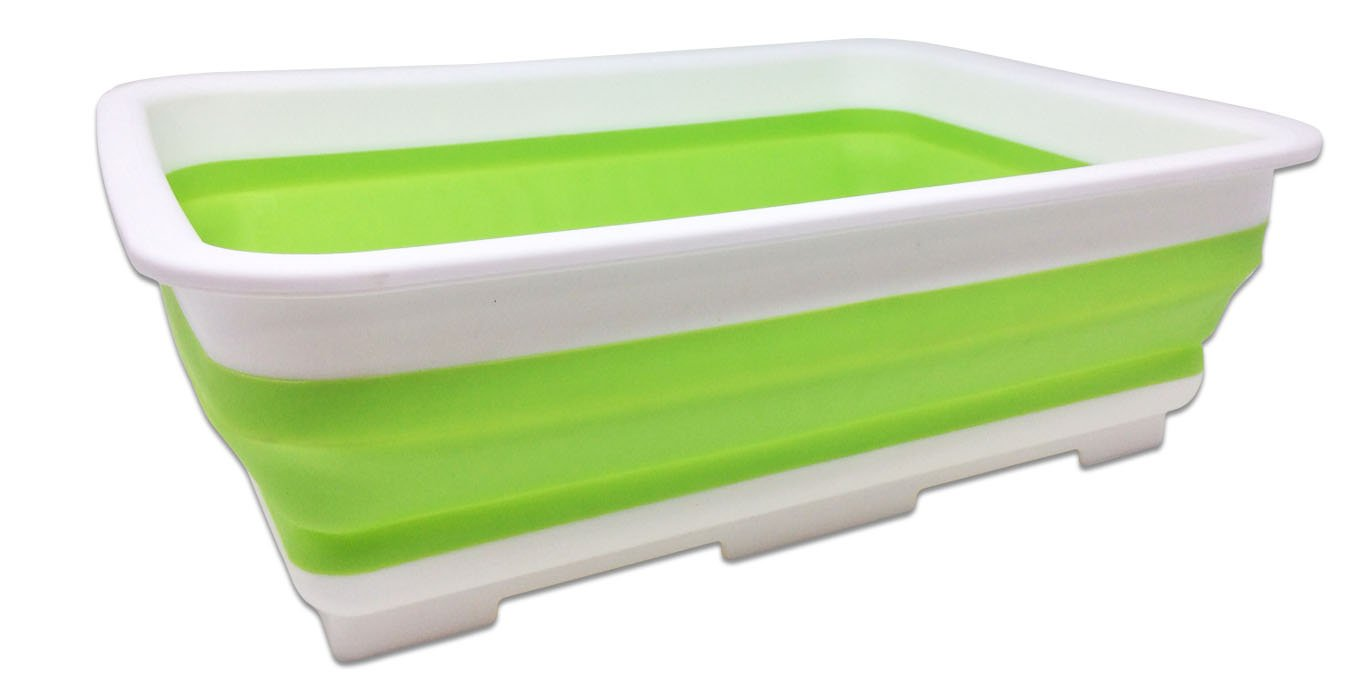 Collapsible Washing Up Bowl – Portable 9 Litre Water Storage Basin – ideal for Cleaning & Camping – Great for all Outdoors Activities, Home & Kitchen Bramble