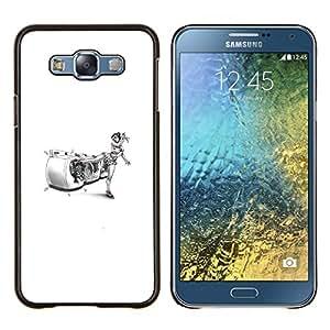 Caucho caso de Shell duro de la cubierta de accesorios de protección BY RAYDREAMMM - Samsung Galaxy E7 E700 - Karate Mujer divertido