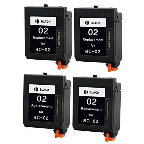 Bc 02 Black Cartridge - LiC-Store 4x Black Compatible BC-02 For Canon BC 02 Ink Cartridge for Canon BJC-1000 BJC-210 BJC-240 BJC-250 printer inkjet