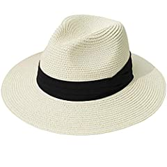 Womens Straw Beach Sun Hat UPF 100% Paper Straw with Nech Cord One size. suitable for women and girls,headsize 56-60cm. Composition: Hat: 100% Paper Straw  Pack: 1 pcs sun hat with a wind ropeAbout Us: FURTALK is a U.S.Registered young brand...