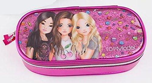 Estuche escolar forrado, diseño de TOP Model Friends modelo Miju, rosa y Nadja Hayden: Amazon.es: Hogar