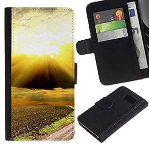 Paccase / Billetera de Cuero Caso del tirón Titular de la tarjeta Carcasa Funda para - Nature Beautiful Forrest Green 88 - Samsung Galaxy S6 SM-G920