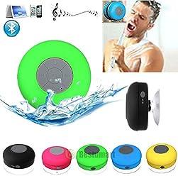BTS-06 Water Resistant Shower Bluetooth Speaker with Sucker Support Hands-free Calls Function