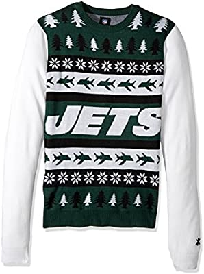 online store 75f58 5f854 New York Jets Ugly Christmas Sweater (Large): Buy Online at ...