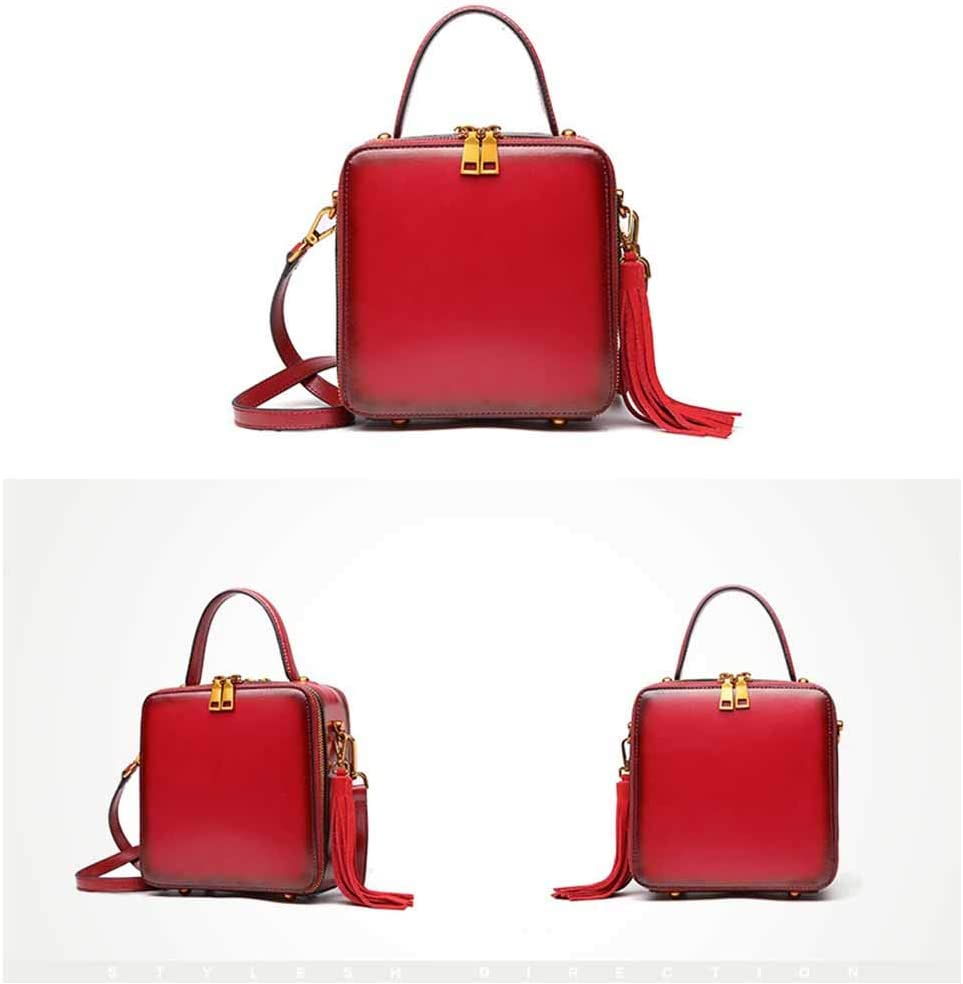 Woolala Womens Square Purse Eye-catching Gradient Color Crossbody Messenger Bag