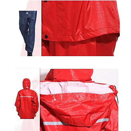 doppio Traspirante antipioggia strato impermeabile Color Geyao Red motociclista A e da XL Dimensione Un XxRngR0