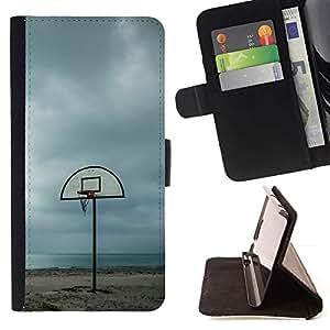 Momo Phone Case / Flip Funda de Cuero Case Cover - Playa Cancha de baloncesto - Sony Xperia Z3 D6603