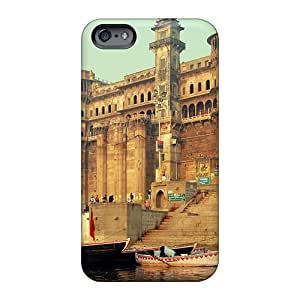 Scratch Protection Hard Phone Case For Apple Iphone 6 Plus (wdv24076RGaN) Unique Design Realistic Varanasi India Pattern