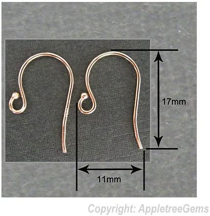 not as a pair 14kt Rose Gold 15 CTW Diamond Accented Preset French Ear Wire with Ring Finding is being sold individually