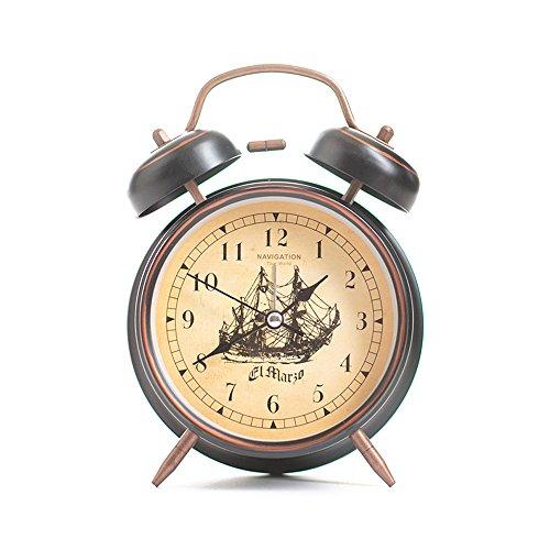 ttern Bell Alarm Clock Black 4