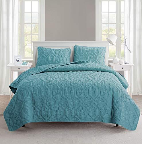 Victoria Classics 3 Piece Quilt Set King, Shore Blue