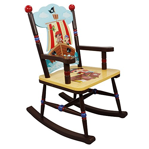(Fantasy Fields - Pirate Island Thematic Kids Wooden Rocking Chair | Imagination Inspiring Hand Crafted & Hand Painted Details | Non-Toxic, Lead Free Water-based Paint)